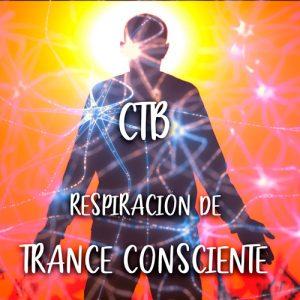 Hombre en Trance consciente realizando ejercicios de respiración